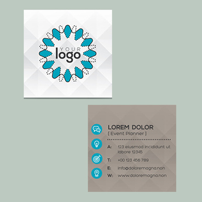 1Hr Square Business Cards 2 Side