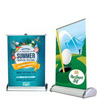 24 Hr Mini Table Top Roll up Banners