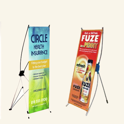 Mini Table Top X-Banner Stand