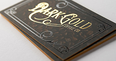 24PT SOFT TOUCH LAMINATED + FOIL BUSINESS CARDS
