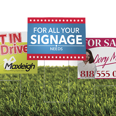 Custom Size 4mm Corrugated Signs