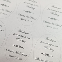 24 Hr Oval Labels